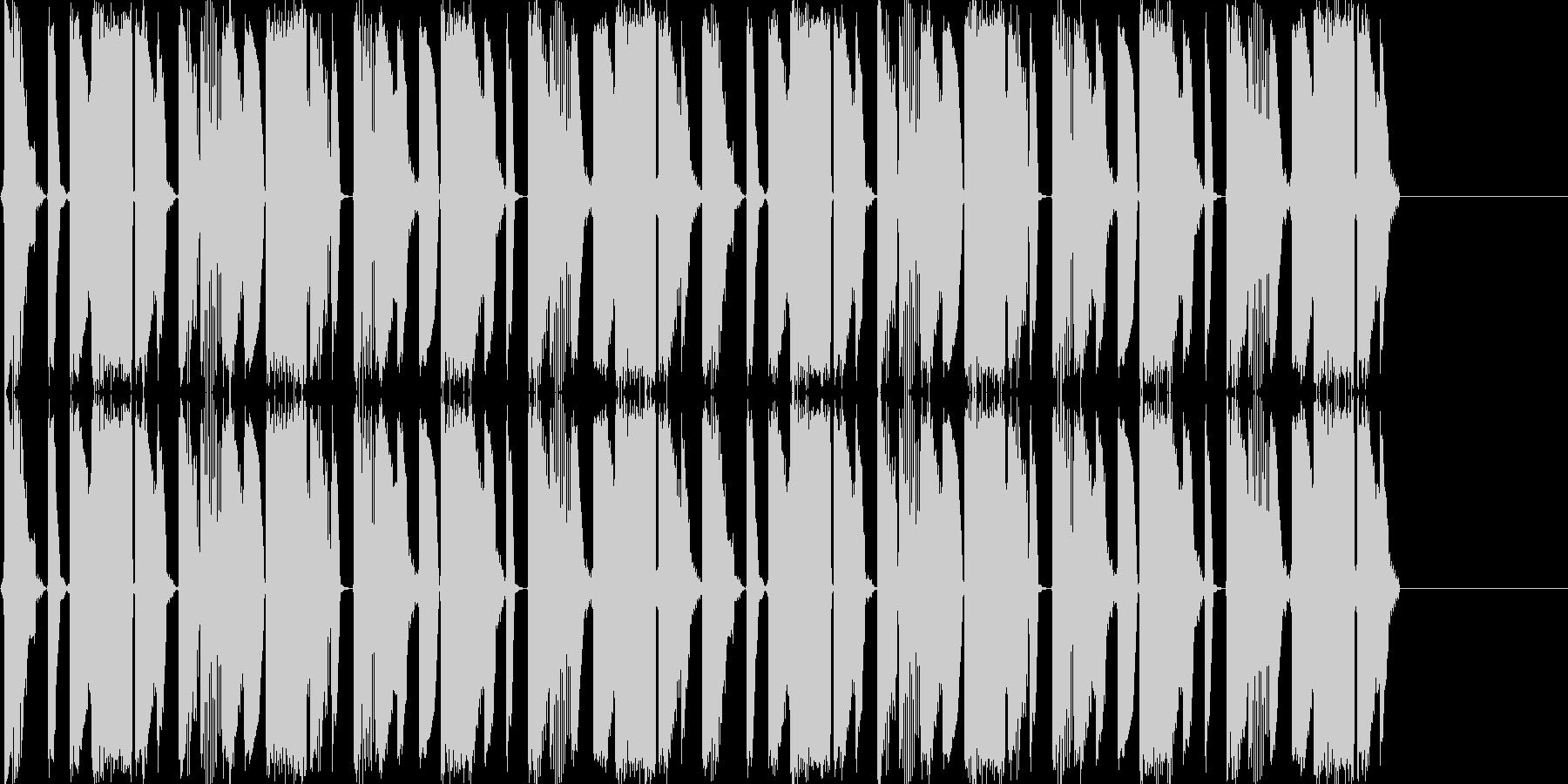 クラブトラック用のループ音源の未再生の波形