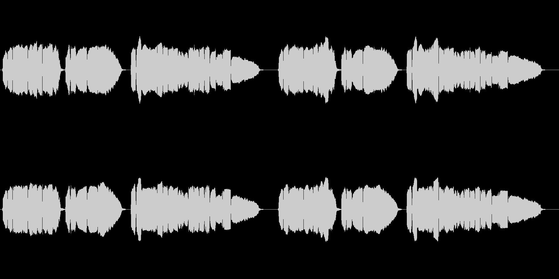 童謡「赤とんぼ」のトランペット独奏の未再生の波形