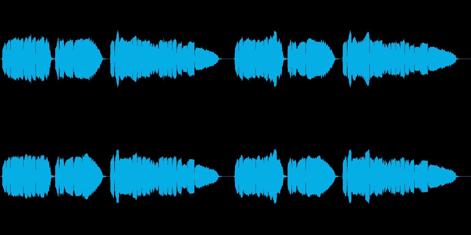 童謡「赤とんぼ」のトランペット独奏の再生済みの波形