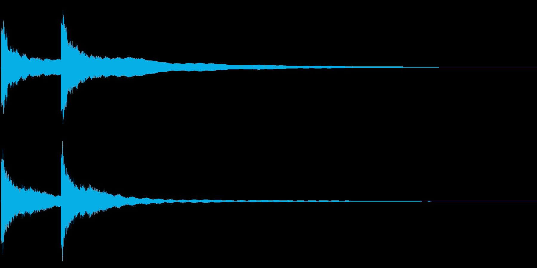 カーンカーン 西洋の鐘の音1 リバーブ付の再生済みの波形