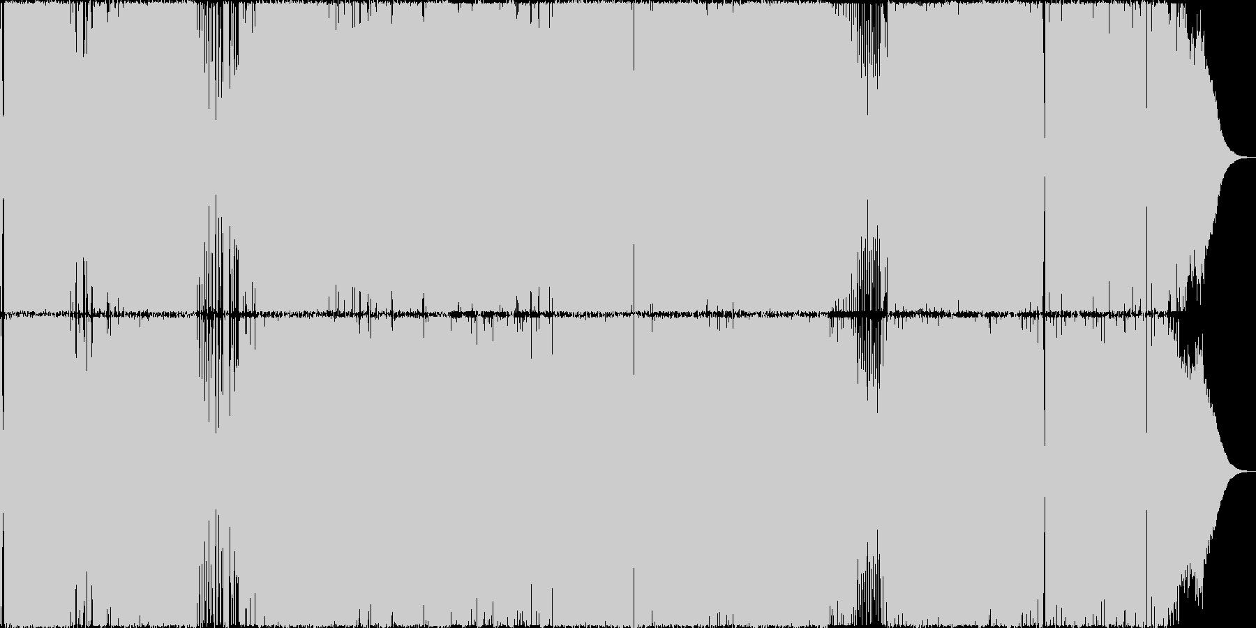 アップテンポのハードロック、ヘヴィメタルの未再生の波形