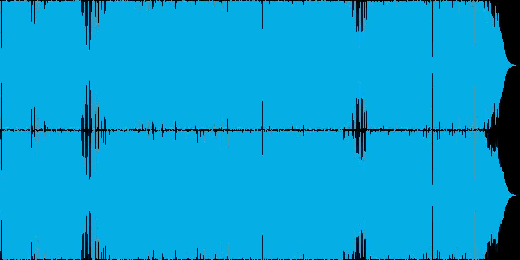 アップテンポのハードロック、ヘヴィメタルの再生済みの波形