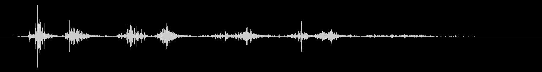 タブレッド菓子出す音・振る音9の未再生の波形