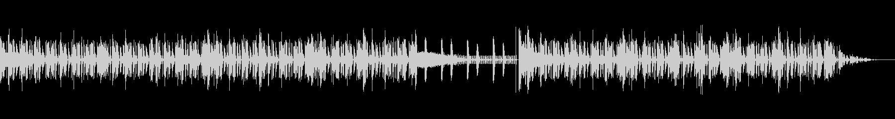 ピアノを使用した緊迫感のあるインスト曲の未再生の波形
