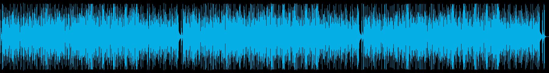 YouTubeワクワクする軽快なファンクの再生済みの波形