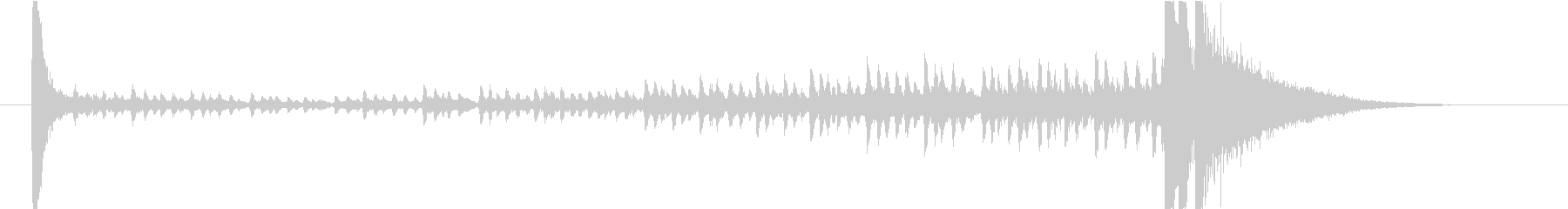6秒・ドラムロール(タカタカ→シャーン)の未再生の波形