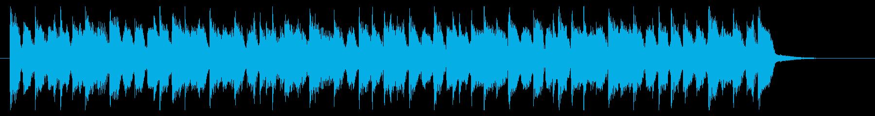 明るいサックスメロのポップなジングルの再生済みの波形