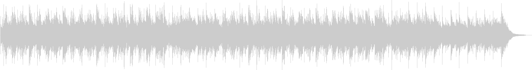 ギターとピアノの優しいヒーリングBGMの未再生の波形