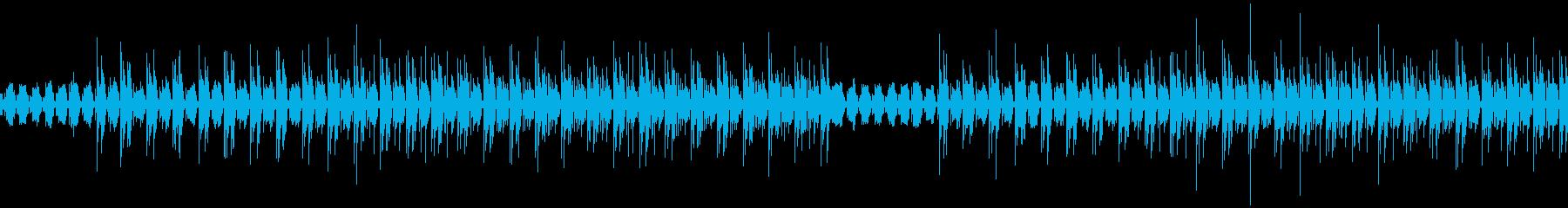 脱力感のあるピアノと電子音(ループ対応)の再生済みの波形