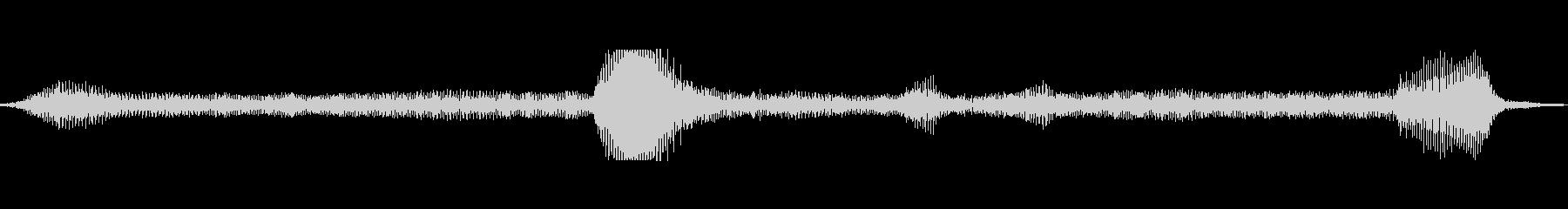 トーンブリージーハムbの未再生の波形