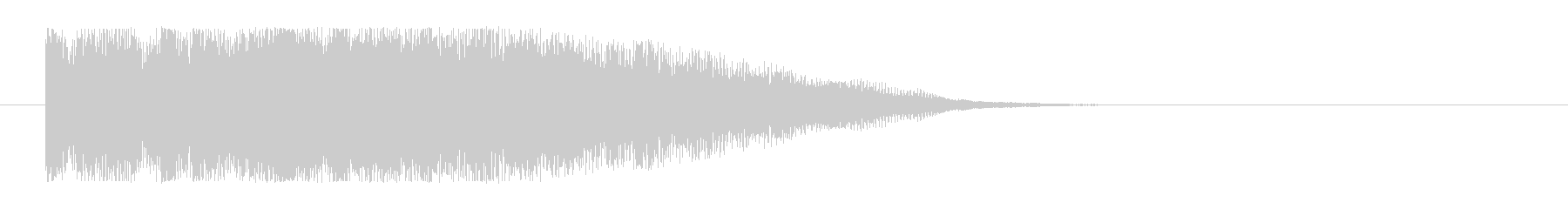 タンタンタンというきれいなロゴの未再生の波形