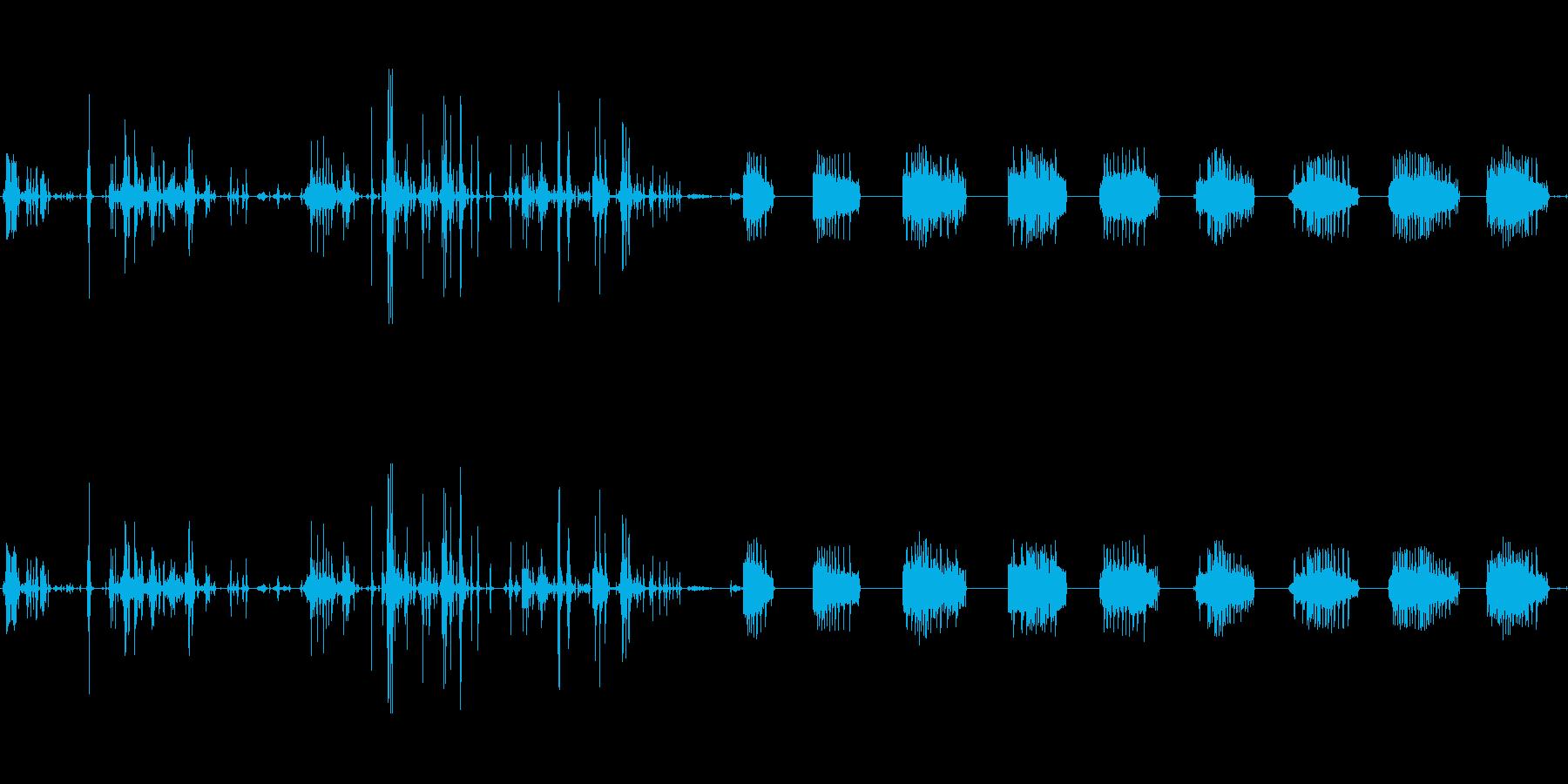 ラック:サウンドのセットアップクラ...の再生済みの波形