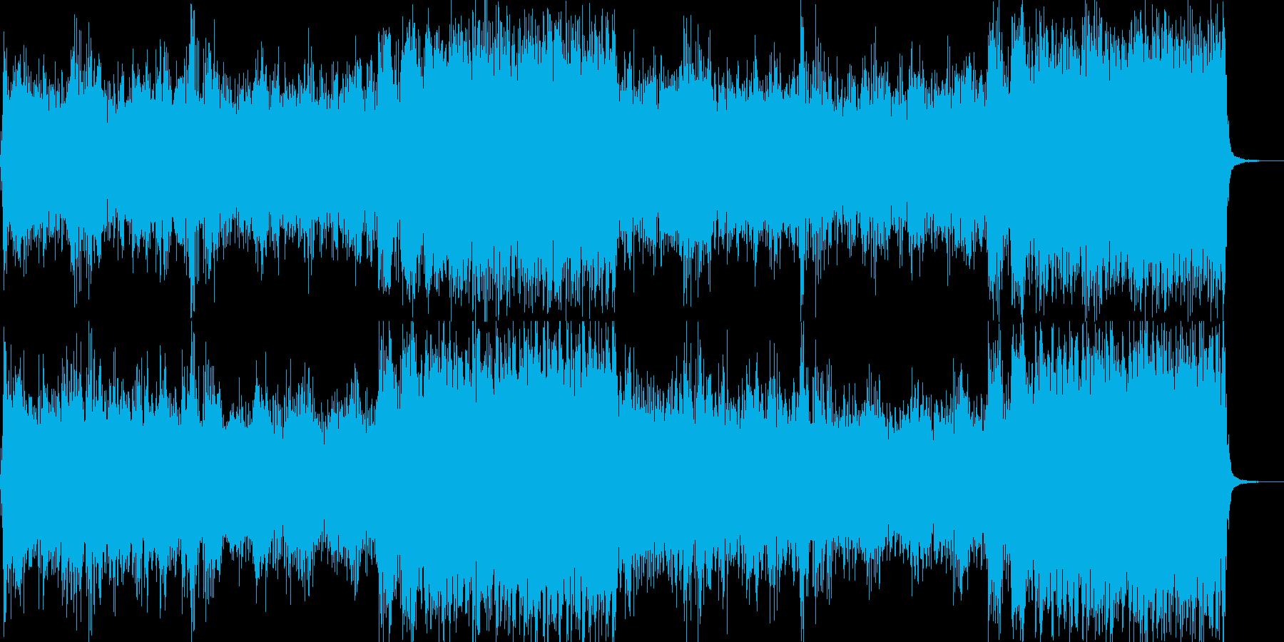 ホラー・サスペンス 怖い雰囲気の再生済みの波形