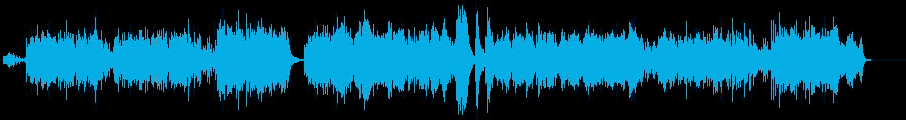 不思議なイメージ画面のクロスフェードの再生済みの波形