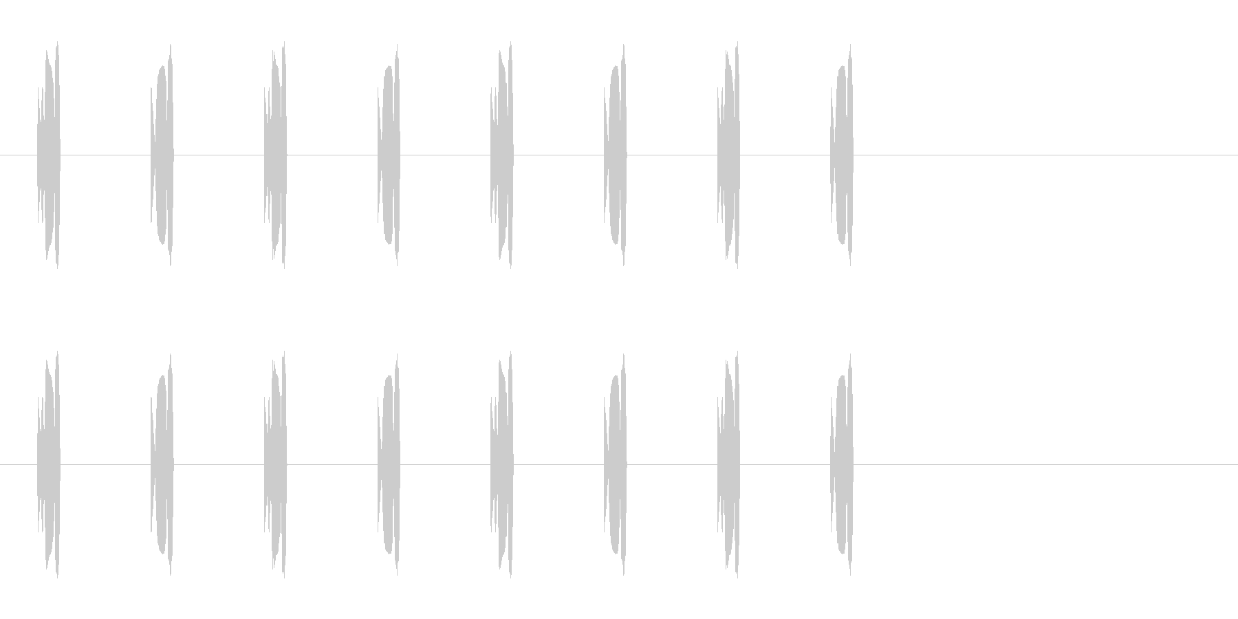 コミカルな足音 A-4-3の未再生の波形