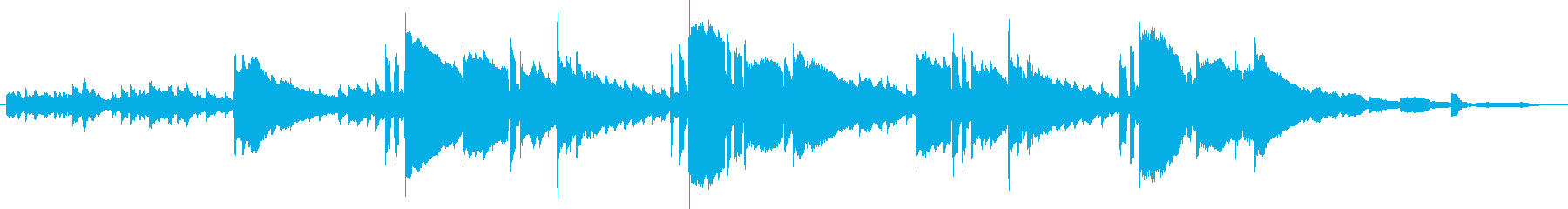 Bright and sparkling waltz BGM's reproduced waveform