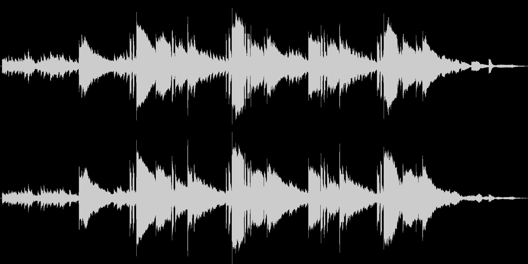 明るく可愛いキラキラとしたワルツBGMの未再生の波形
