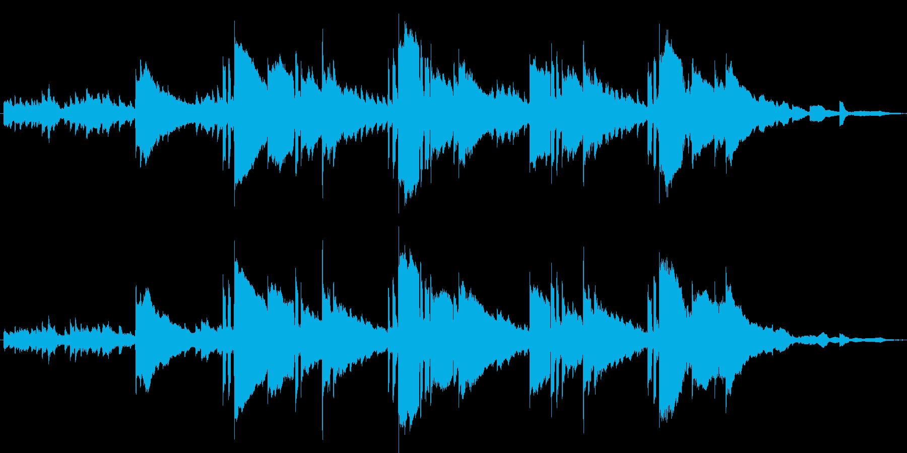 明るく可愛いキラキラとしたワルツBGMの再生済みの波形