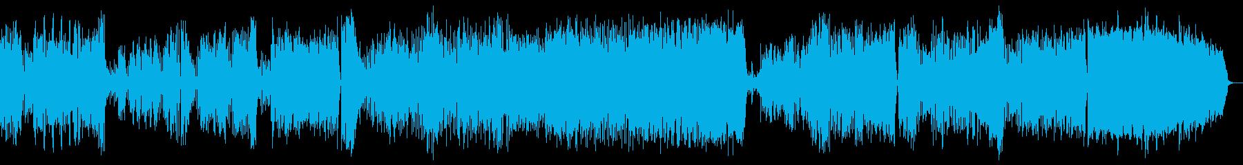 明るくおしゃれなワルツの再生済みの波形