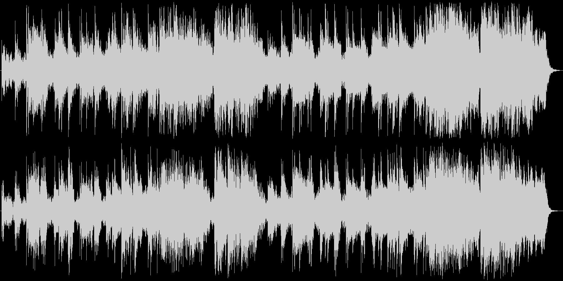 控えめで穏やかな喜びのピアノメロディの未再生の波形