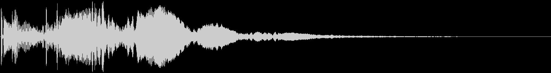 ポピピ↑ 角の無い丸みをおびたボタン音 の未再生の波形