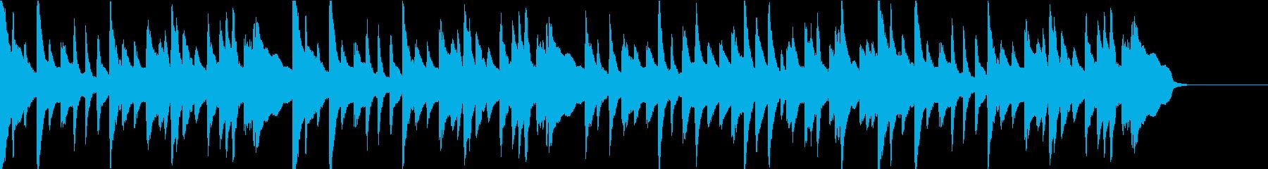 悲しいシーンのクラシックなBGMの再生済みの波形