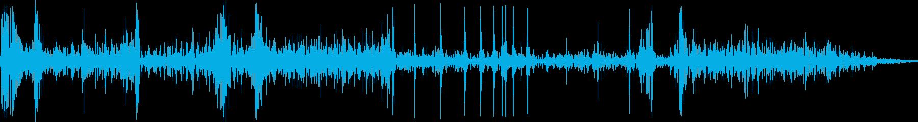 打撃・骨折の音02の再生済みの波形
