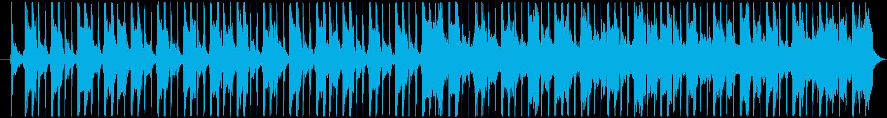 少し緊張感のあるロック調ジングル・BGMの再生済みの波形