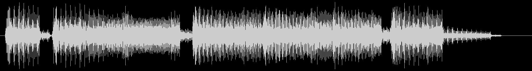 ゲーム音 場面転換の8bitなジングルの未再生の波形