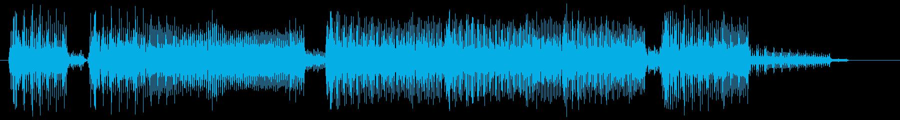 ゲーム音 場面転換の8bitなジングルの再生済みの波形