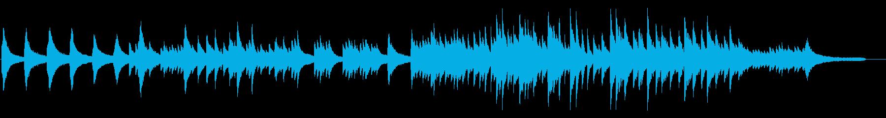 待ち侘びた朝をイメージしたピアノBGMの再生済みの波形