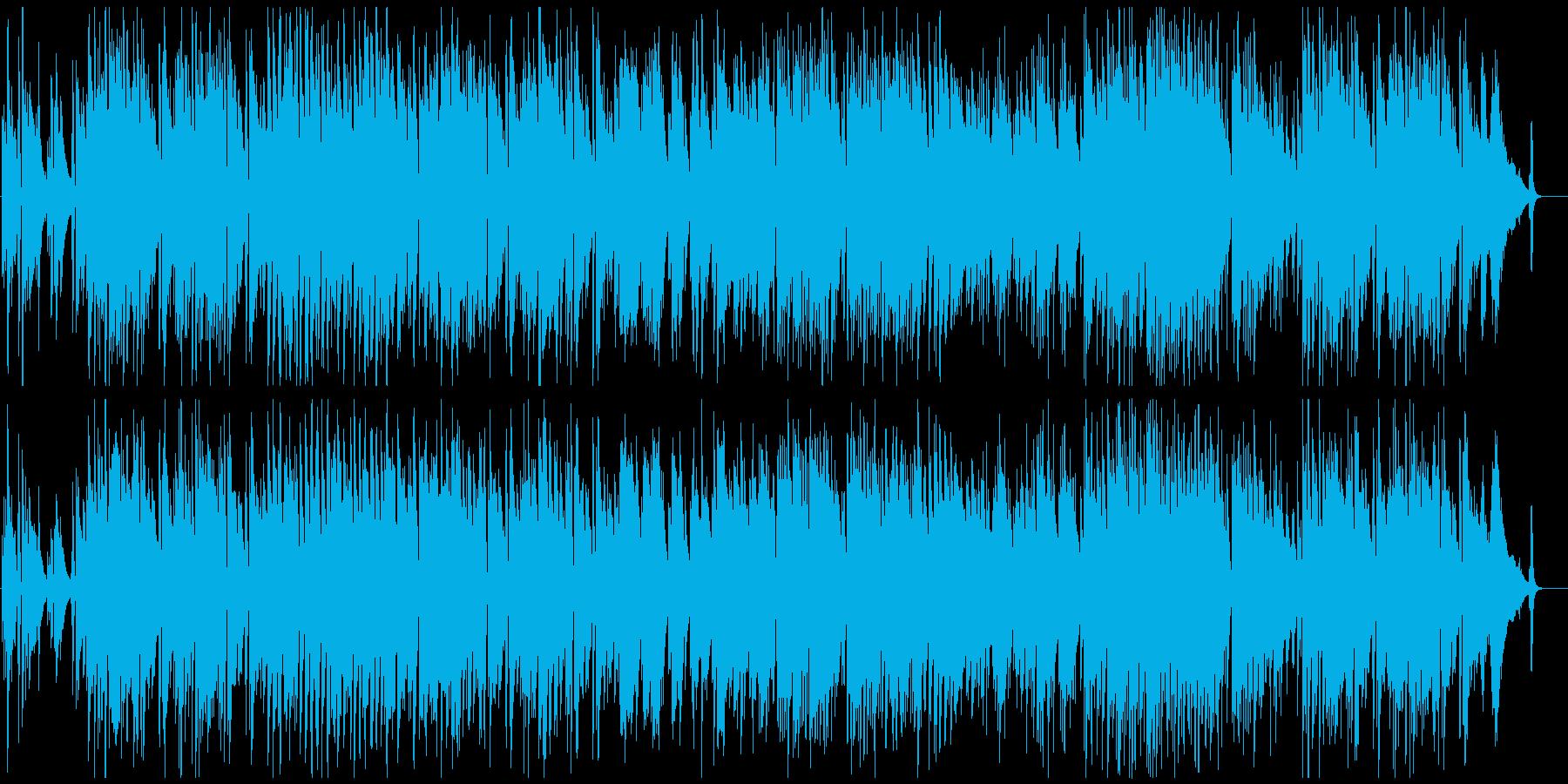 カフェやバーのゆったりとしたジャズの再生済みの波形
