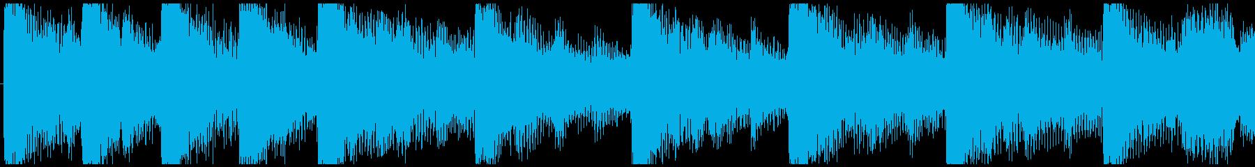 ハローウィン用のホラー曲-ループ3の再生済みの波形