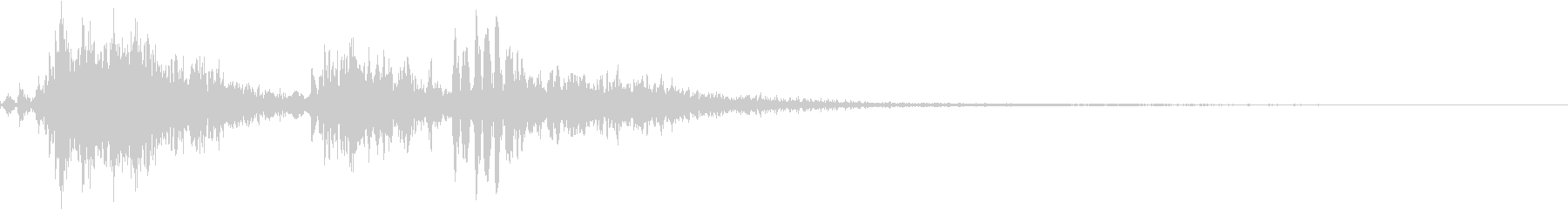 モンスターの鳴き声1の未再生の波形