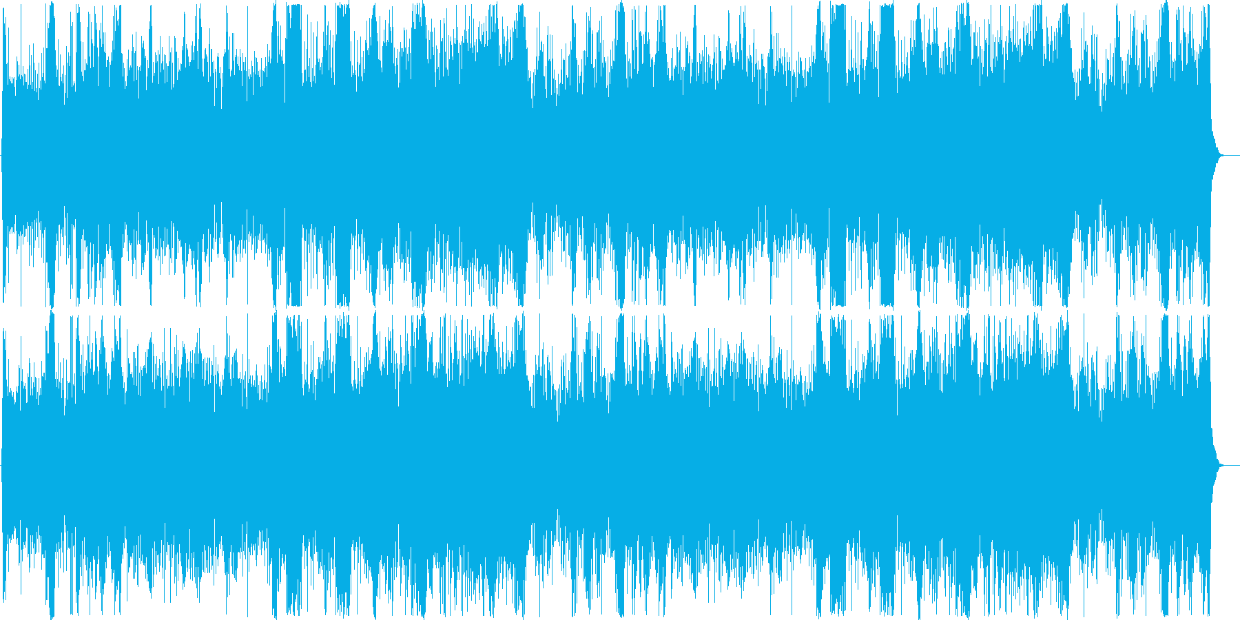 疾走感のあるシンセ+オケの再生済みの波形