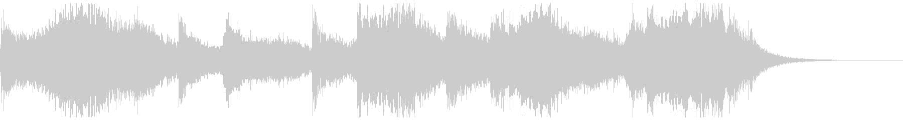 ホラーでよくあるオーケストラの不協和音の未再生の波形