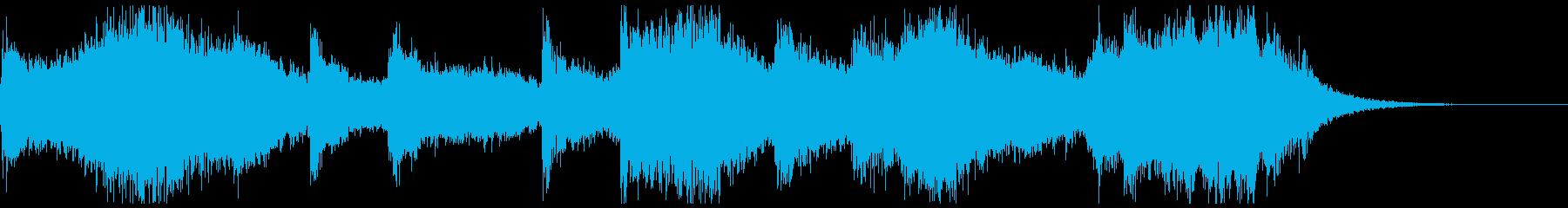 ホラーでよくあるオーケストラの不協和音の再生済みの波形