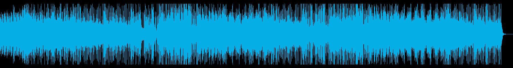 おしゃれなピアノとリズムのポップスの再生済みの波形