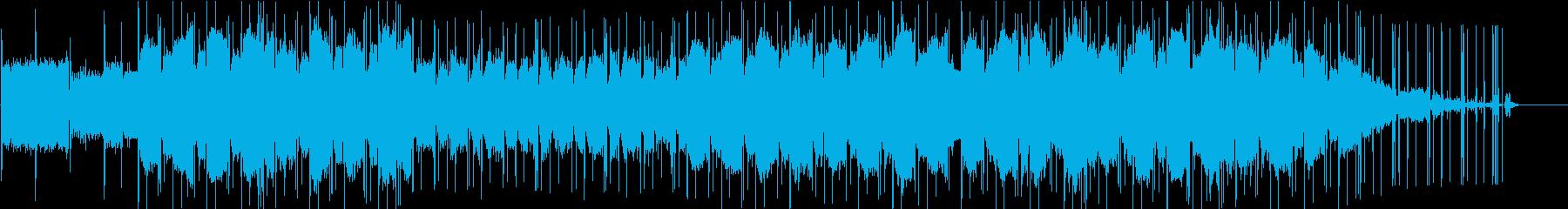 癒し系のチルミュージックの再生済みの波形