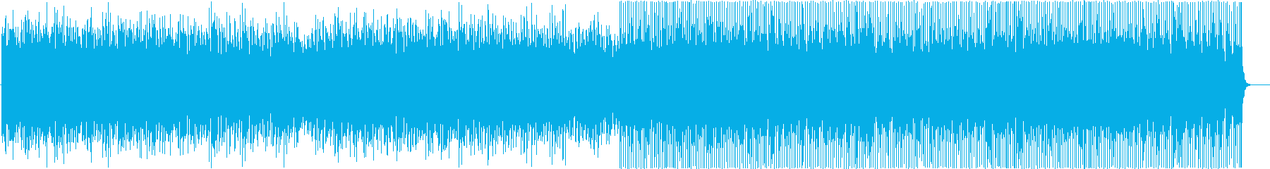 製品紹介映像等向けの軽快なテンポのBGMの再生済みの波形