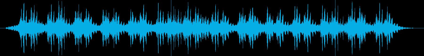 漂う雰囲気のアンビエント系BGMの再生済みの波形