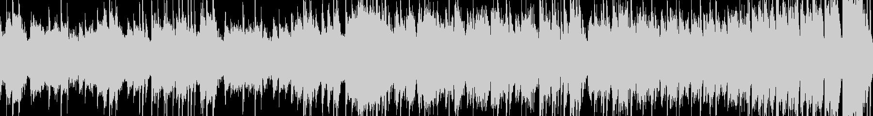コミカルなミニゲーム向けの短いループ曲の未再生の波形