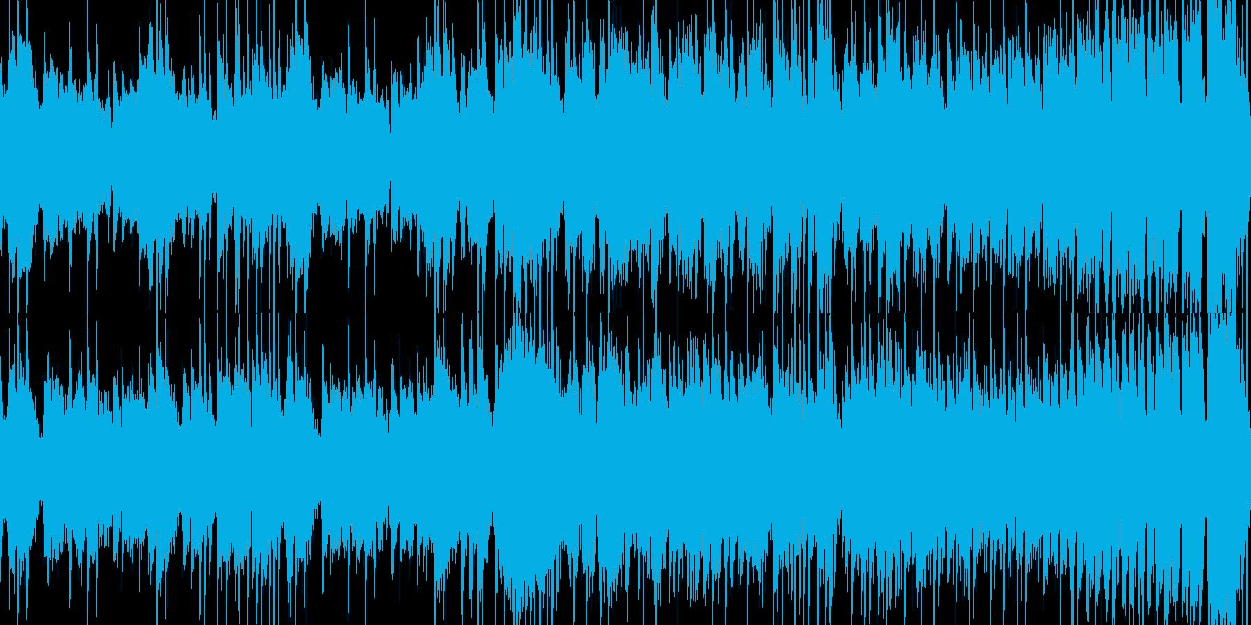 コミカルなミニゲーム向けの短いループ曲の再生済みの波形