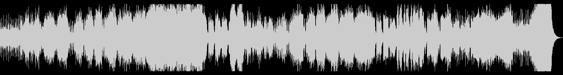 ダークでシネマチックなオーケストラBGMの未再生の波形