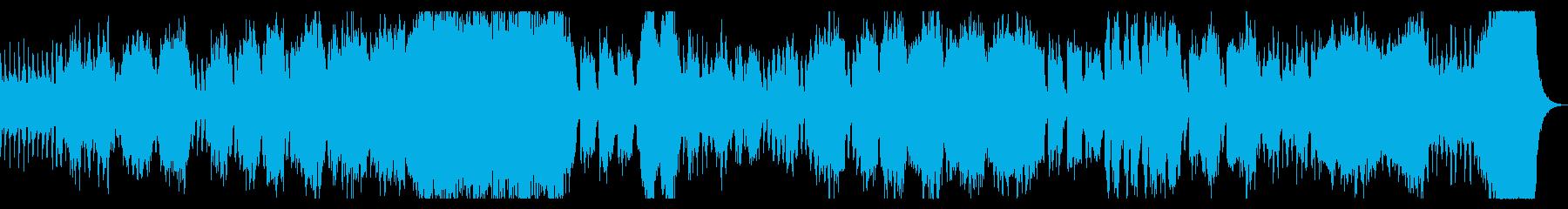 ダークでシネマチックなオーケストラBGMの再生済みの波形