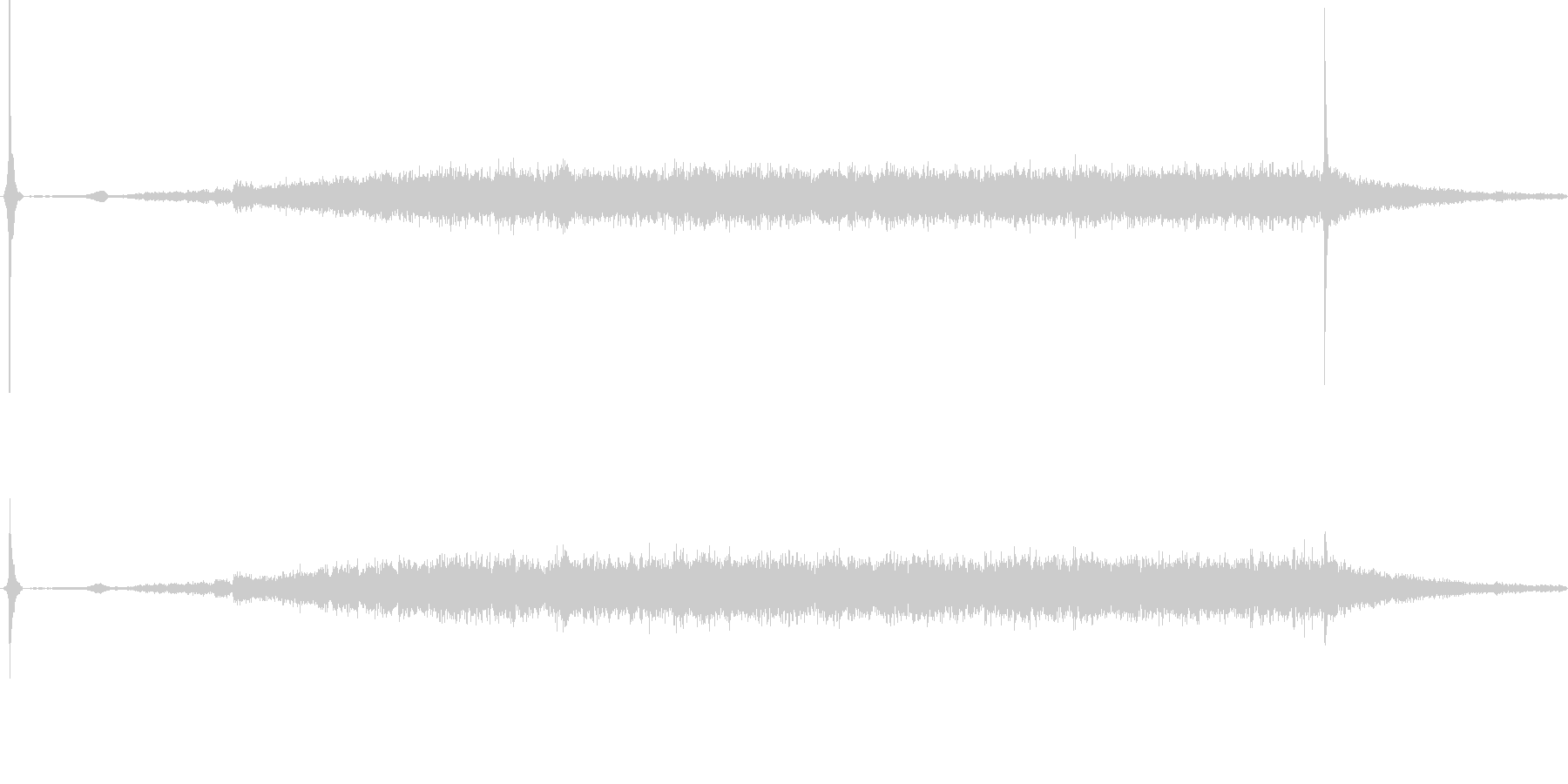 換気扇の音の未再生の波形