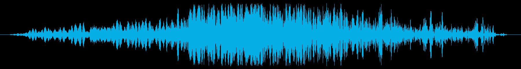 電子バブルロールの再生済みの波形