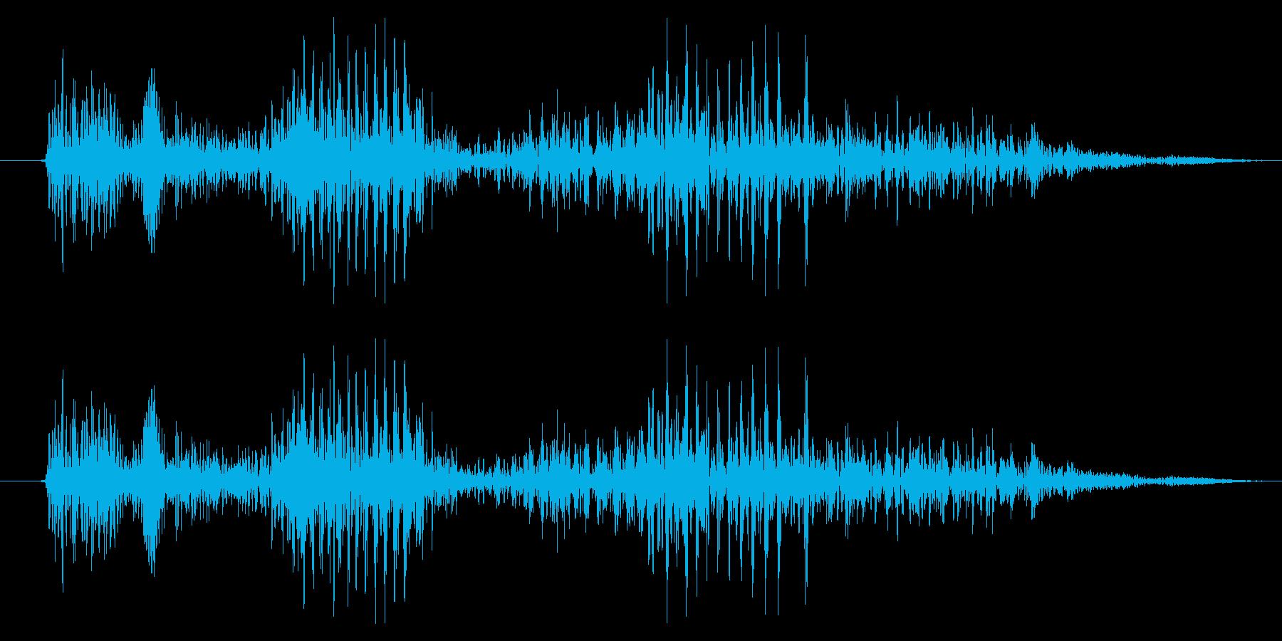 ドラゴン モンスター キャラタップ 喜びの再生済みの波形
