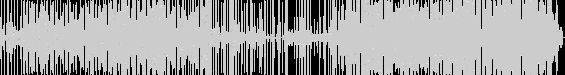 アップテンポなハウスの未再生の波形