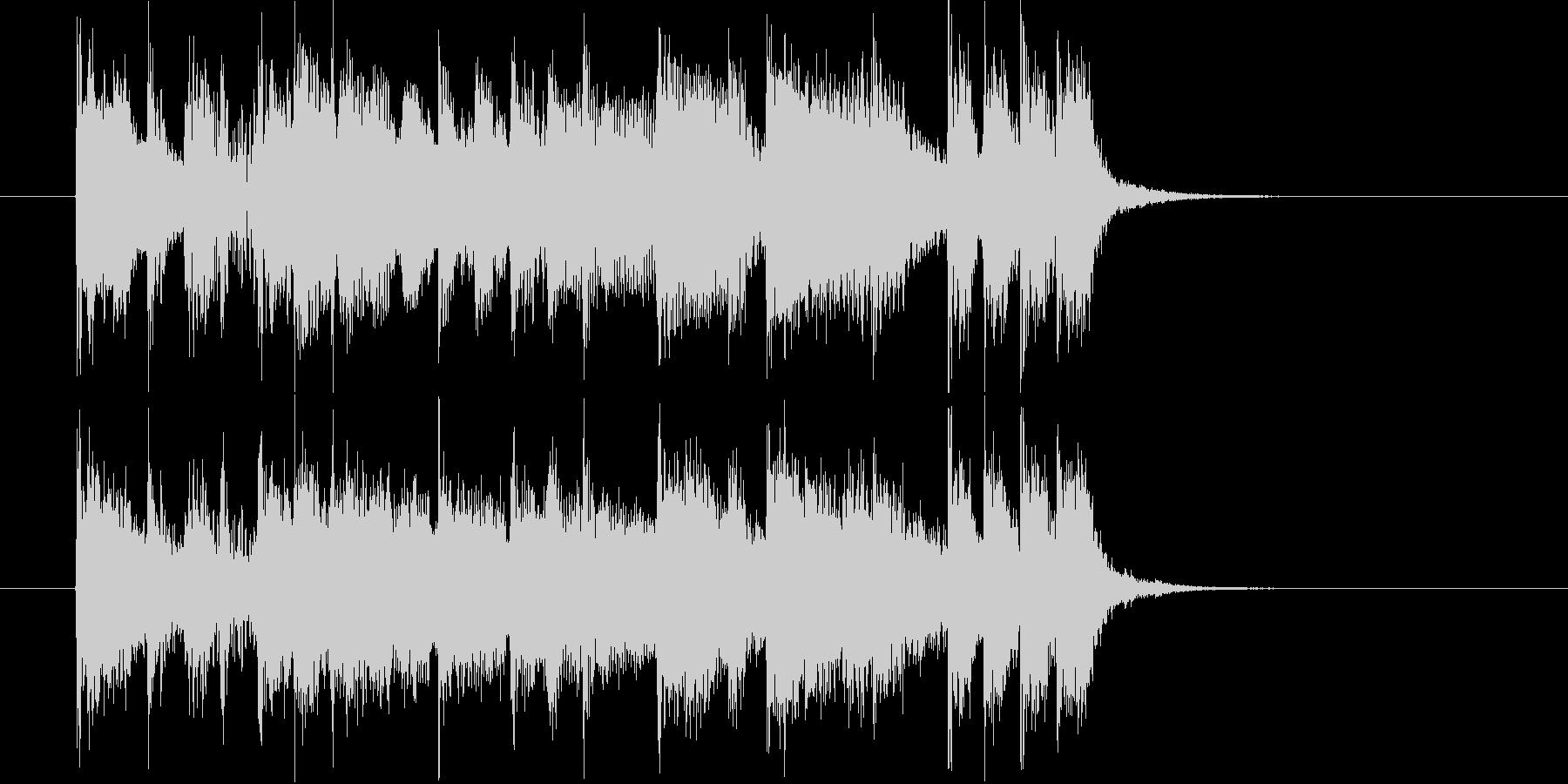 クールでありベースが印象的なロックの未再生の波形